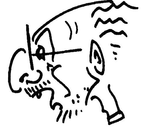 Ο κ. Τάκης Παπάρας, σκίτσο Μ.Πασσίση